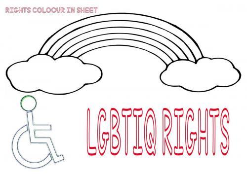 LGBTIQ Colouring Sheet